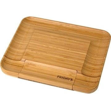 Promotional bamboo-cheese-serving-set