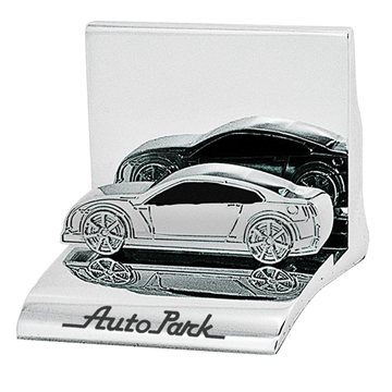 Promotional Chrome Metal Business Card Holder - Car