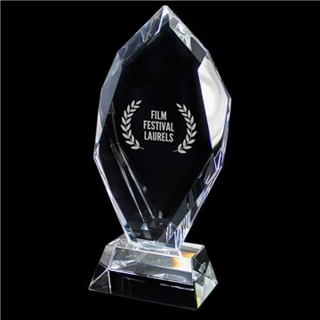 Promotional Crystal Trophy (Large Flame)