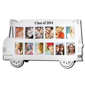 Promotional Aluminum School Bus Photo Frame