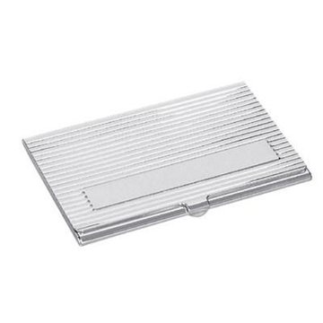 Promotional Silver Plated Brass Card Case