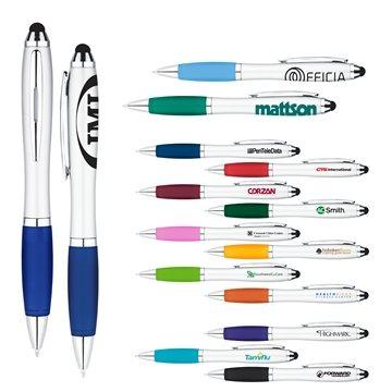 Promotional Curvaceous Twist Ballpoint Pen Stylus