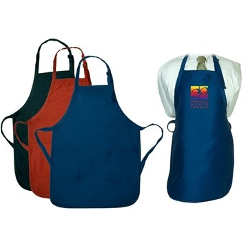 Promotional gourmet-apron-with-pockets-dark-colors
