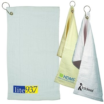 Promotional Fingertip Towel With Grommet Light Colors
