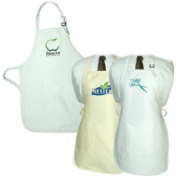Promotional Gourmet Apron With Pockets - Natural And White