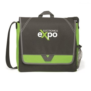 Promotional Elation Messenger Bag - Apple Green