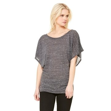 Promotional Bella Flowy Draped Sleeve Dolman T - Shirt