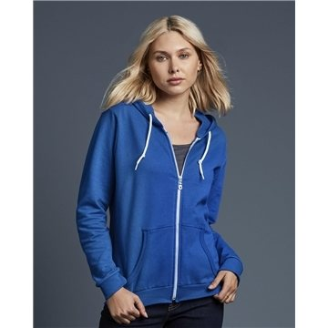 Promotional Anvil Ladies Combed Ringspun Fashion Full - Zip Hooded Sweatshirt