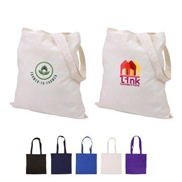Promotional Cotton Canvas Multi Color Basic Tote 15 X 15