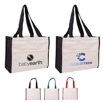 Promotional Cotton Gusset Accent Box Tote