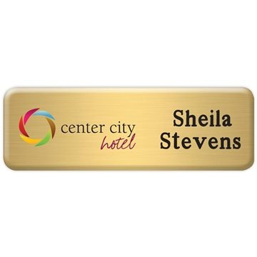Promotional New York Standard Name Badge 1 x 3