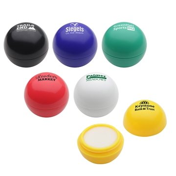 Promotional Well - Rounded Ball Shaped Lip Balm