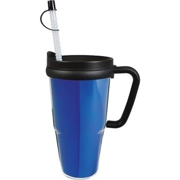 Promotional 24 oz Thermal Travel Mug w / Foil Insert