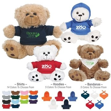 Promotional 6-plush-big-paw-bear-with-shirt