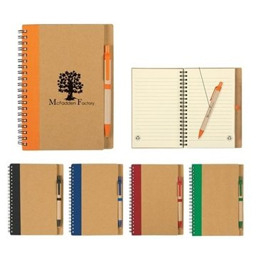 Promotional Spiral Notebook Pen Set