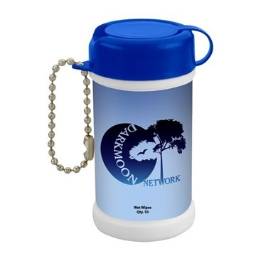 Promotional pocket-size-wet-wipe-canister