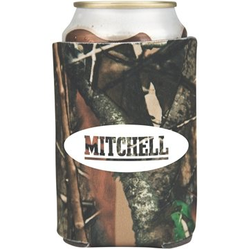 Promotional Camouflage Collapsible Foam Can Holder - 2 sided