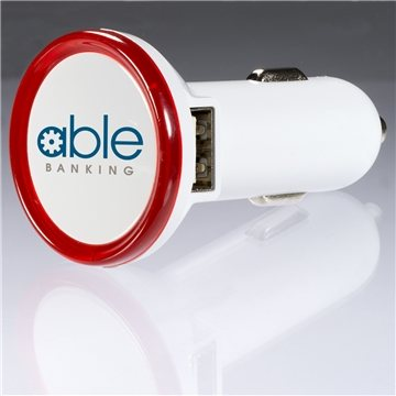 Promotional Round Usb Car Charger