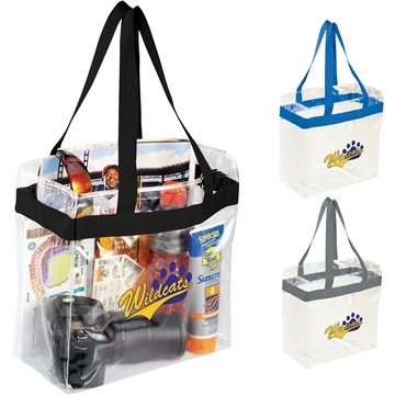 Promotional PVC Custom Game Day Stadium Tote - Clear - 12 X 12