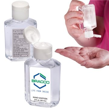 Promotional Gel Hand Sanitizer in Square Bottle - 2 oz