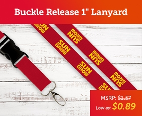 Promotional Buckle Release 1 Lanyard