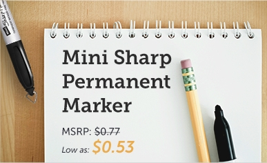 Promotional Mini Sharp Mark® Permanent Markers With Key Ring Cap