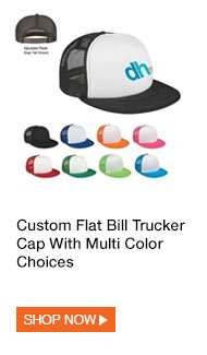 Custom Flat Bill Trucker Cap With Multi Color Choices