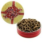 Promotional The Grand Tin - Chocolate Covered Mini Pretzels