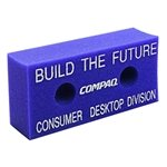 Promotional 7.5 X 3.5 Foam Brick With 2-Holes