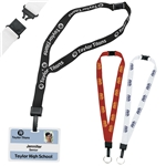 Promotional 3/4 Inch Breakaway Lanyard With Key Ring