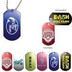 Promotional Dog Tag with 4 1/2 Ball Chain