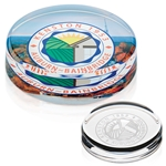 Promotional Round Paperweight