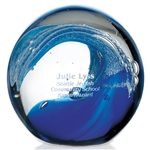 Promotional Jaffa Round Glass Wave Award