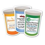 Promotional Laminated Magnet Pill Bottle