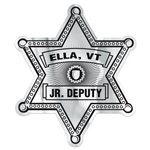 Promotional Lapel Stickers on Rolls - Sheriff Star
