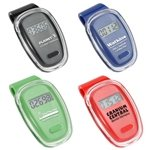 Promotional Clear Cover Fitness First Pedometer