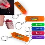 Promotional Whistle Red LED Key Light With Compass