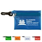 Promotional Translucent Zipper Storage Pouch Bag with Plastic Hook