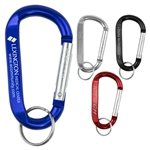 Promotional LARGE Size Carabiner Keyholder with Split Ring Attachment
