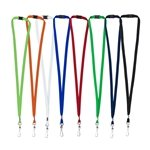 Promotional 3/8 Blank Lanyard with Breakaway Release Attachment - Swivel Clip