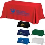 Promotional 4-Sided Throw Style 6 ft Table Cloth & Covers