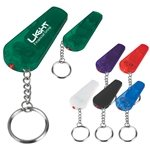 Promotional Custom Whistle Flashlight Keychain