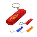Promotional Whistle, Light And Compass Key Chain