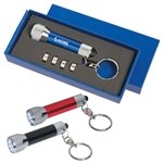 Promotional Aluminum LED Flashlight Key Chain