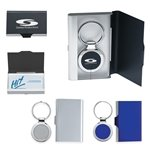 Promotional 2 In 1 Key Tag/Business Card Holder