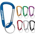 Promotional 6 mm Carabiner With Metal Split Ring