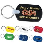 Promotional Rectangular Pliable Soft Pvc Key Tag With Split Key Ring