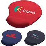 Promotional Solid Jersey Gel Mouse Pad/Wrist Rest