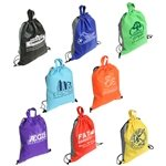 Promotional Non Woven Multi Color Glide Right Drawstring Bag 13 X 16