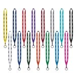 Promotional 1/2 Polyester Lanyard with Metal Crimp & Split-Ring